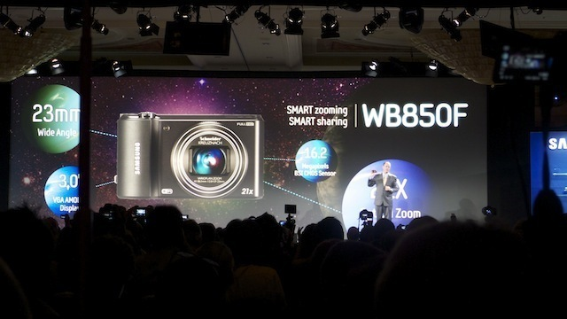 Samsung's new WiFi-enabled camera, the WB850F