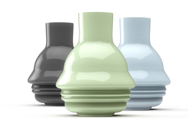 Vases made from a profile using the Sculpteo app.
