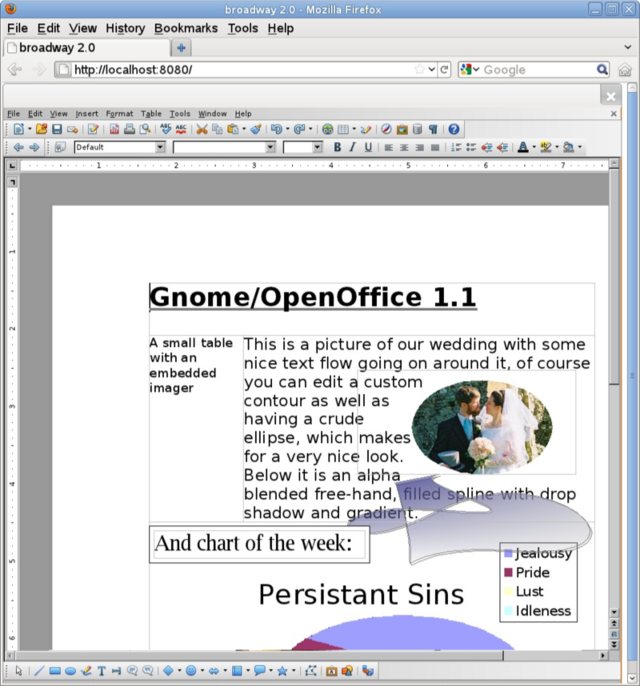 A screenshot of LibreOffice Online running in Firefox