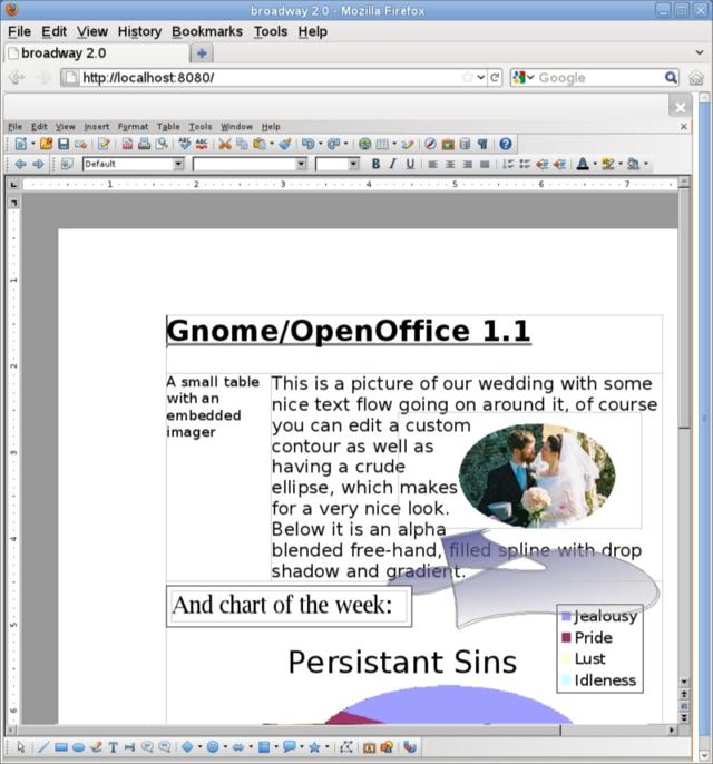 A screenshot of LibreOffice Online running in Firefox