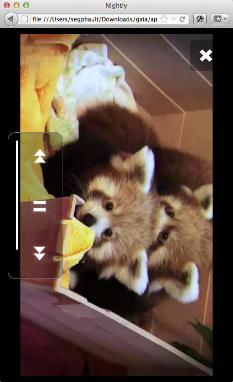 The B2G video player is powered by the HTML5 video element and cuddly Red Pandas