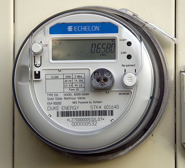 An Echelon smart meter used by Duke Energy