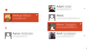 Windows 8's new way of working: Messaging, Mail, and People