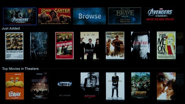 The new Trailers interface for Apple TV