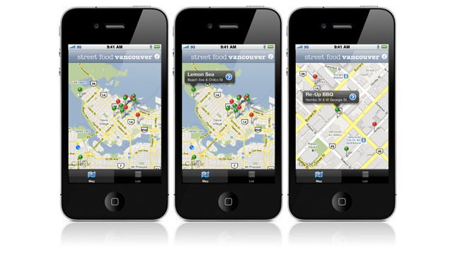 Street Food App requires vendors to input schedules and location data manually, but developer Toby Vander Steen finds that more reliable than an expensive GPS.