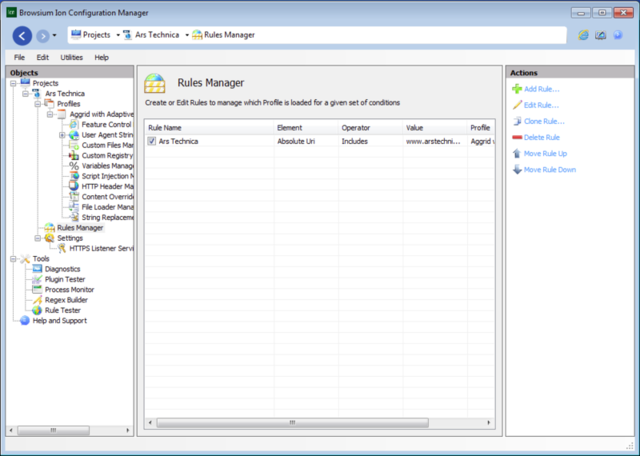 The Browsium Ion Configuration Manager
