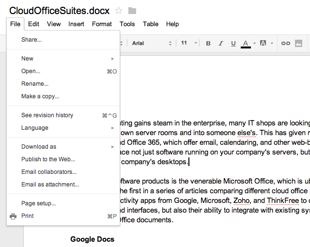 Editing a Google Doc