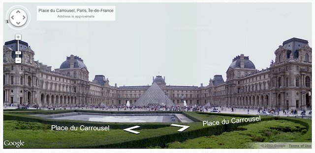 Google Street View at the Louvre