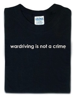 The wardriving community was adamant that wardriving wasn't illegal--they also had a code of ethics that forbid reading data from WiFi networks, even open ones.