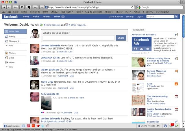 Facebook en fotos (excelente)
