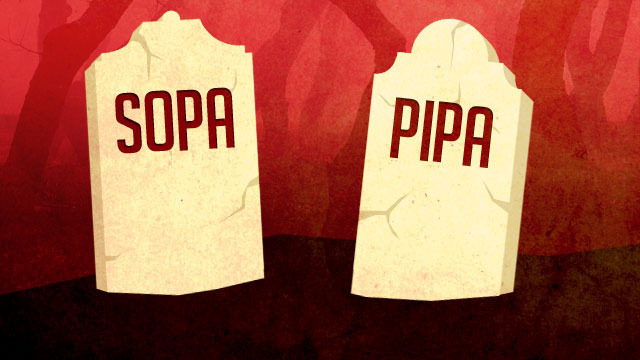 Internet wins: SOPA and PIPA both shelved