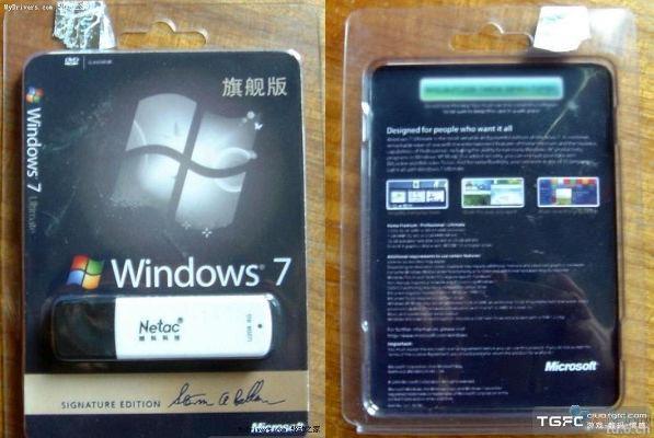 Pirates offer Windows 7 on USB sticks